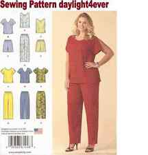 Women Blouse Top Pants Shorts Simplicity Sewing Pattern 1446 New Size 26W-32W #u