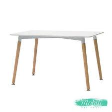 Tavolo Wooden Moderno MDF Bianco Rettangolare - SPEDIZIONE GRATUITA