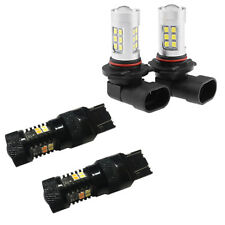 Switchback Parking Signal + White Fog Light LED Bulbs for 2005-2013 Corvette C6