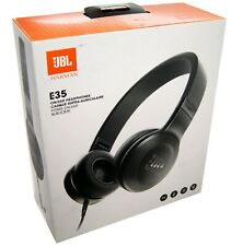 JBL E35 Wired Headphones Headset Over Ear Earphones - Black NEW