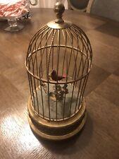 RARE Vintage German Karl Griesbaum Ken/D Red Bird In Cage Fully Functional