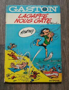 GASTON LAGAFFE TOME 8 DOS ROND LAGAFFE NOUS GATTE EDITION ORIGINALE EO