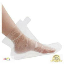 200Pcs Clear Plastic Disposable Booties, Paraffin Bath Liners for Foot Pedicure