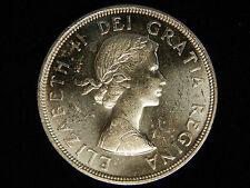 1964 Canada Silver Dollar - Quebec - UNC - PL