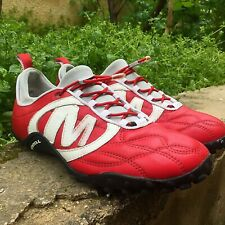 Merrell Trainers Air Cushion Men's Leather Red Sports Shoes US Size 7.5