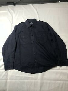 WILLIS & GEIGER OUTFITTERS Button Front Navy Mens Large