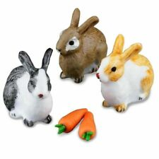 Reutter Dollhouse Miniature Easter Rabbit Bunny Hare Set of 3 with 2 Carrots