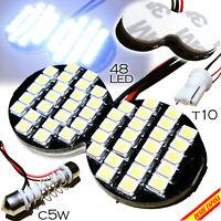 BOMBILLA LUZ PANEL 48 LED SUPER BLANCA KIT 5 EN UNO C5W T10 W5W COCHE 12V XENON