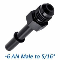 "EFI Fuel Adapter Fittings -6 AN Male to 5/16"" (Hard Tube) SAE Quick-Disconnect"