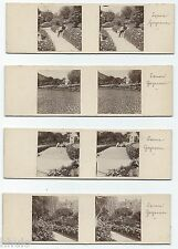 STC463 stereoview photo STEREO Vintage Lot de 4 amateur Algérie square Guynemer