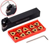 MWLNR2020K08 Lathe Turning Tool Holder w/ 10pcs WNMG0804 Carbide Inserts