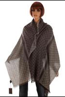 NWT Authentic Gucci wool/silk classic gg logo oblong scarf unisex 282390 195X70
