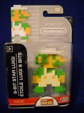 2016 World of Nintendo Super Mario 8-Bit Star Luigi Figure