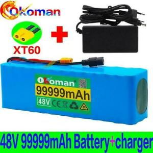 Lithium 48v 99.999ah Ebike Battery 1000w Pack High Power + Charger