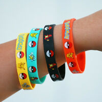 4pcs Cartoon Cute Fashion Pokemon GO Hand tour silicone bracelet Kids Toys Hot