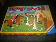 RAVENSBURGER BOARD GAME DERBY DAYS - HORSE PONY RIDING GAME 100% COMPLETE