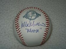 """MIKE MUSSINA HOF INSCRIBED """"MOOSE"""" AUTOGRAPHED SIGNED 100TH YANKEES MLB BASEBALL"""
