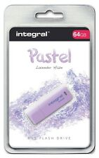 Integral Pastel 64GB USB 2.0 Lavender Haze Flash Drive INFD64GBPASLH