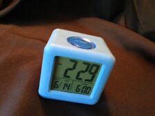 Equity By La Crosse Soft Cube Lcd Alarm Clock Blue #70913