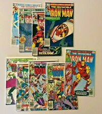 Iron Man Comics Lot #126 127 140 145 146 149 150 152 166 VG to FN+