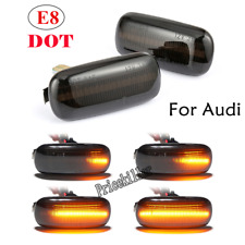 Pair Dynamic Flowing LED Side Marker signal Light For Audi A4 S4 B6 B7 A6 C5 TT@