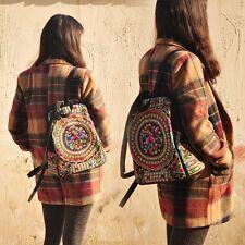 Fashion Women's Travel Satchel Shoulder Bag Backpack Rucksack Embroidered  Tote