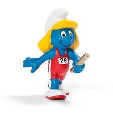 SCHLEICH SMURFS OLYMPIC SPORTS - 20739 - Relay Runner Smurfette Figure- Retired