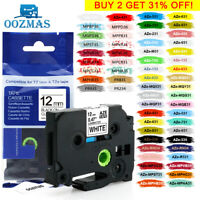 "TZe-231 TZ 12mm Laminated Label Tape Compatible Brother P-Touch Tze PT-D210 1/2"""