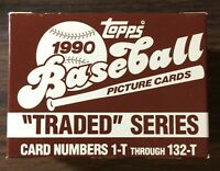 1990 TOPPS TRADED Baseball Factory Set out of case UNOPEN DAVE JUSTICE  E5020731