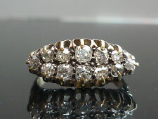 Stunning Victorian 1.50ct Old mine cut diamond 18ct gold Marquise ring