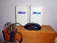 Lot of 5 iMicro MO-M10U 3-Button USB Wired Optical Scroll Mouse Black NEW in Box