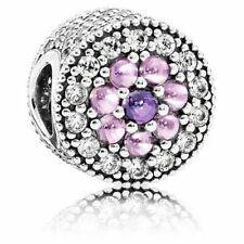 NEW Genuine Pandora Charm 791820PCZMX Dazzling Floral Pink Purple CZ ALE RRP$109