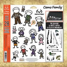 Camo Family™ 28-Piece Window Decal Set with Realtree® Camo