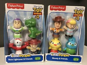 🚀 NEW-Fisher Price Little People Disney Pixar Toy Story 4 Friends Bundle 8 Pcs