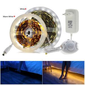 1-5m LED Stripe mit PIR-Bewegungsmelder IP65 5050SMD Lichtband Streifen+Netzteil