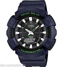 Casio ADS800WH-2A Mens Blue 200M Tough Solar Sports Watch 5 ALARMS Chronograph
