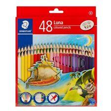 STAEDTLER LUNA Colored Wooden Pencils Art Drawing 48 shades Free Sharpener