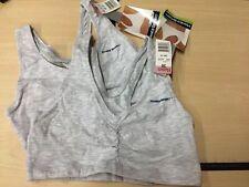 Two Hanes Sport Crop Gray Bras Size 36 A-B-C  NWT