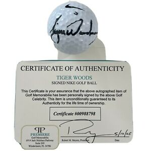 TIGER WOODS CERTIFIED SIGNED GOLF BALL