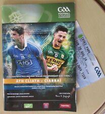 GAA 2016 Dublin v Kerry - Senior Football Semi-Final Programme + Ticket
