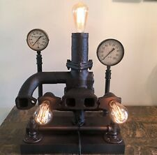 Steampunk Industrial 1930s Farmall F20 Exhaust Manifold Table Lamp Rustic Dcor