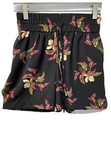 A New Day Shorts Tropical Floral Print Elastic Waist Drawstring Pockets NWT XXS