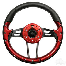 Aviator 4 Golf Cart Steering Wheel Red (Adapter Required)