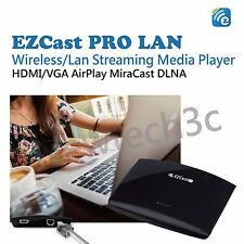 EZCast PRO LAN BOX Wireless/Lan Streaming Media HDMI/VGA AirPlay MiraCast DLNA