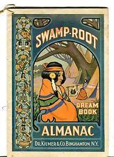 Swamp-Root Dream Book Almanac Dr. Kilmer & Co. Binghamton NY 1938 EX 101916jhe