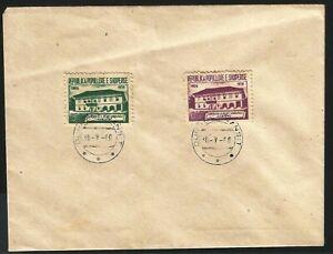 Albania Albanien Albanie 1960 FDC MiNr 607-608 First School Elbasan