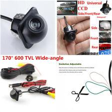 HD 170°600 TVL Car Front Side Rear View Mirror Reverse Parking Backup Camera Kit