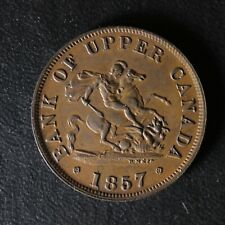 PC-5D Halfpenny 1857 token Province of Upper Canada Bank Breton 720