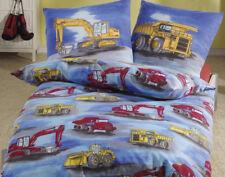 Bettwäsche 135x200 cm Bagger Truck Baustelle 9317 BIBER
