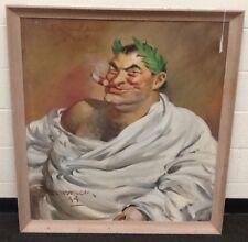 Haddon Sundblom Original Oil Canvas 40x36 Caesar Santa Empire Coal Company Coke